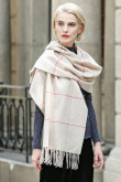 2019 Stylish Popular Beige Basulan Wool Woman Scarf Shawl