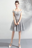 2020 New Style Silver Gray Sequined Fabrics Homecoming Dresses Knee-Length prom dresses TSJY-039