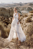 2021 Elegant Lace Wedding Jumpsuit Bride Dress so-238