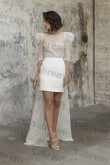 2021 Dressy Disassemble Wedding Lace Jumpsuits Bride Outfits so-240