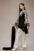 2021 Elegant Mother of the bride pant suits black and white outfit mps-378