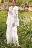 2020 Lace Long Sleeves lovely Wedding Jumpsuits so-220