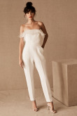 2021 Strapless Guest Jumpsuits Bride Outfits so-236