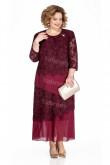 Burgundy Mother Of The Bride Dresses Ankle-Length Plus Size Women's Dresses mps-449-1