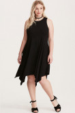 2021 Modern Plus Size Women's Dresses, Black Sexy Knee-Length Summer Dresses mps-415