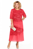 Watermelon Mother Of The Bride Dress Mid-Calf Plus Size Women's Dresses mps-449-2