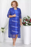 2 PC Plus Size Women's outfis Cheap Royal Blue Mother of the Bridal Dresses mps-366-4