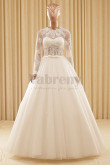 A-Line Floor-Length Lace Long Sleeves Ball Gown Wedding dresses