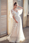 Anna Wedding Dresses vestido de noiva,3d floral Embroidered Wedding Gowns so-285