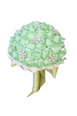 Apple Green Wedding bouquets for bride and Bridesmaids Bouquet with Hand Beading Pearls