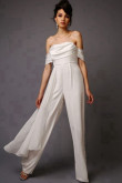 Beach Chiffon Bridal Jumpsuits wedding pants dresses so-076