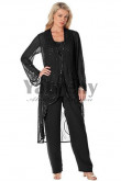Black Hand beading Mother of the bridal pants suit womem's outfits mps-068