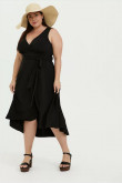 Black Plus Size Mother Of The Bride Dresses,Sweetheart Midi Women's Dresses mps-395