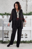 Black Plus Size Mother of the bride pants suits dresses outfits mps-031