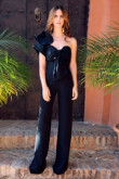 Black Prom jumpsuit One Shoulder Eevening dress so-160