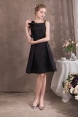 2019 New Style Black Spaghetti Knee-Length Prom dresses so-050