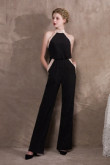 2020 Fashion Black Stretch Halter Womens Prom dresses/Jumpsuits so-030
