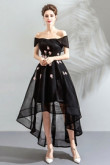 Black High-low Prom Dresses Off the Shoulder paarty Dresses TSJY-132-1