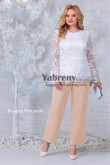 Blushing Pink Chiffon panits Mother of the Bride Pant suits,Mère des costumes pantalons mps-518-5