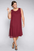 Burgundy Plus Size Midi Mother fo the bride Dresse,Loose Women's Dresses mps-394