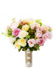Champagne and pink Artificial Flowers Rose for Bridesmaid Bouquet