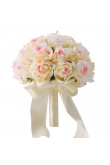Champagne and Pink Artificial Flowers Rose for bride and Bridesmaid Bouquets