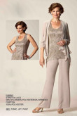 Champagne Elegant mother of the bride pant suits mps-204