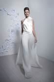 Charming bridal jumpsuit Halter wide legs accordion pleatpants culottes so-100