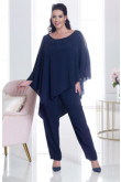 Dark Navy Beaded mother of the bride pant suits Wedding party trousers outfit mps-168