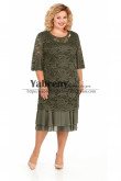 Deep Olive Lace Mother of the Bride Dress Plus size Women's Dress mps-496-2