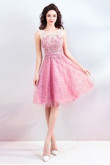 Dressy Sequined Fabrics Short Dresses Under $100 Pink Homecoming Dresses TSJY-156