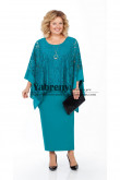 Elegant Ankle-Length Mother of the bride Dress Jade Green Plus Size Women's Dress mps-501-1