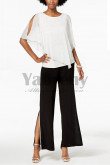 Elegant  pants Set Pearl Trim Mother of the bride pantsuits dresses mps-002