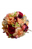 Elegant Rose Red Artificial Flowers Rose for Bridesmaids Bouquet