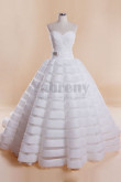 Elegant White Cathedral Tailed Wedding Gown wd-029