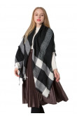 Fall Winter Scarves Women's shawl Black and White Plaid Scarf