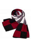 Fashion British Wind Acrylic Plaid Scarfs for Men Black Red White and Gray