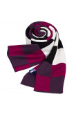 Fashion British Wind Acrylic Plaid Scarfs for Men Black Rose Red White and Gray