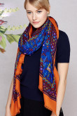 2019 Fashion Orange 100% Wool Bohemian scarves for Spring,autumn and winter