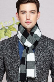 2019 plaid high-end wool Men's scarf for autumn and winter