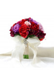 Red,pink,Fuchsia and Burgundy wedding bouquets for bride and bridesmaids
