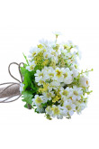 Artificial Flowers wedding bouquets for bride and bridesmaids with leaves