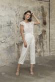 Glamorous Lace Wedding Jumpsuits Modern Mid-Calf Bride Dresses so-245