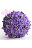 Grape Artificial Simulation Rose flowers for bride and bridesmaids with Crystal