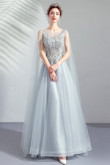 High-End Gray Prom Dresses Cheap A-line Evening Dresses TSJY-145