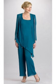 Greenblack hunter green 3 Piece mother of the bride pantsuits Chiffon outfits mps-208