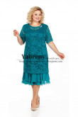 Greenblack Hunter Mother  of the bride Dresses Tea-Length Plus Size Women's Dress mps-497-1