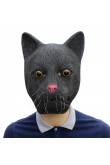 Halloween Animal Latex Masks Black Cat Mask for adults
