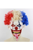 Ghost Head Cover Horror Explosive Head Big Mouth Long Tongue Clown Masks