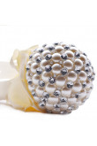 Handmade Beads ivory Wedding bouquets for bride with Crystal